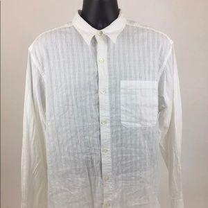 Territory Ahead White button shirt mens L. A079